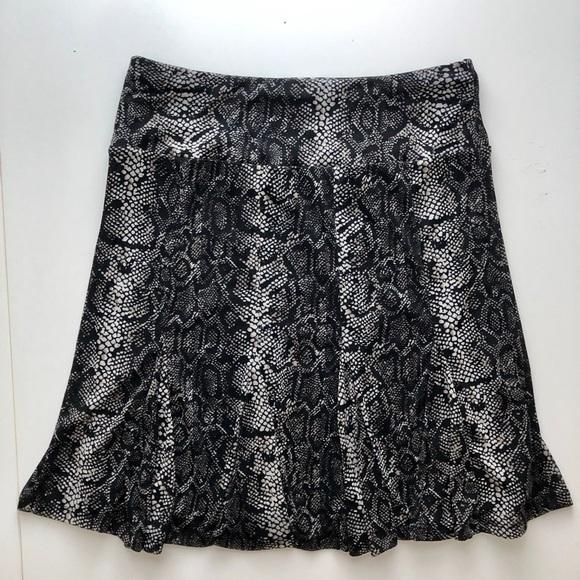 INC International Concepts Dresses & Skirts - Snake Print Flare Skirt